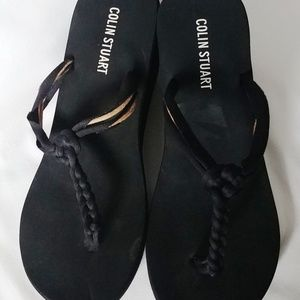 Black Colin Stuart Braided Sandals